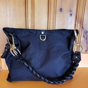 JPK black nylon canvas bag